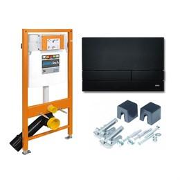 174-91102500-00 Jomo Tech Набор: система инсталляции, крепление, клавиша смыва EXCLUSIVE 2.0 матовый черный