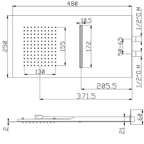 SF081AXX AquaElite верхний душ с 2-мя режимами - фото 8240