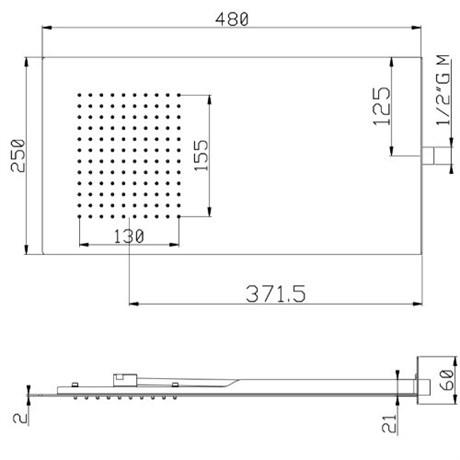 SF082AXX AquaElite верхний душ - фото 8241