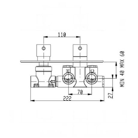 RU102X00Q AquaElite встроенная часть термостатического смесителя - фото 8704