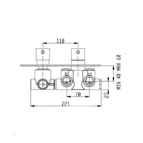 RU103X00Q AquaElite встроенная часть термостатического смесителя - фото 8736