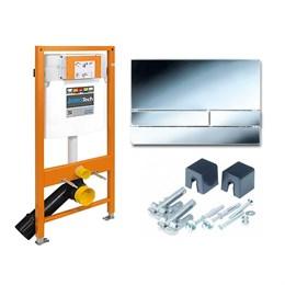 174-91101300-00 Jomo Tech Набор: система инсталляции, крепление, клавиша смыва EXCLUSIVE 2.0 хром