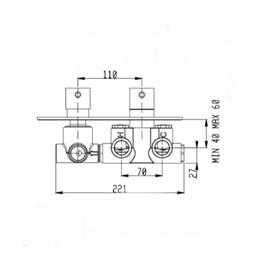 RU103X00Q AquaElite встроенная часть термостатического смесителя